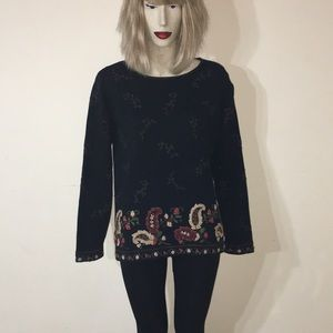 Hand made vintage black sweater